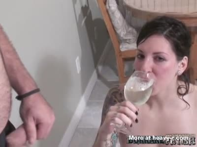 Mixed drinks using piss or cum